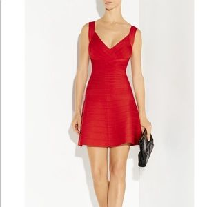"NEW Herve Leger Red ""Nastya"" Dress"